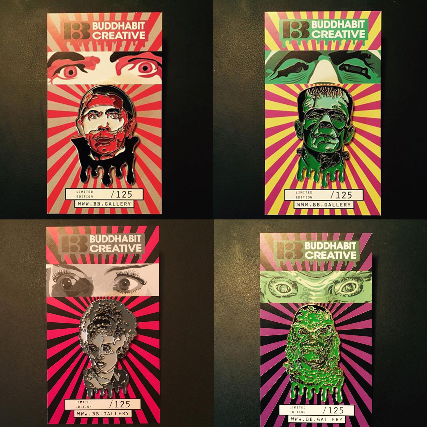 Universal Monsters Pins