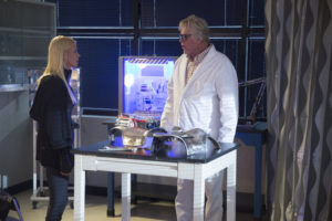 SHARKNADO: THE 4TH AWAKENS -- Pictured: (l-r) Tara Reid as April Shepard, Gary Busey as Wilford Wexler -- (Photo by: Patrick Wymore/Syfy)
