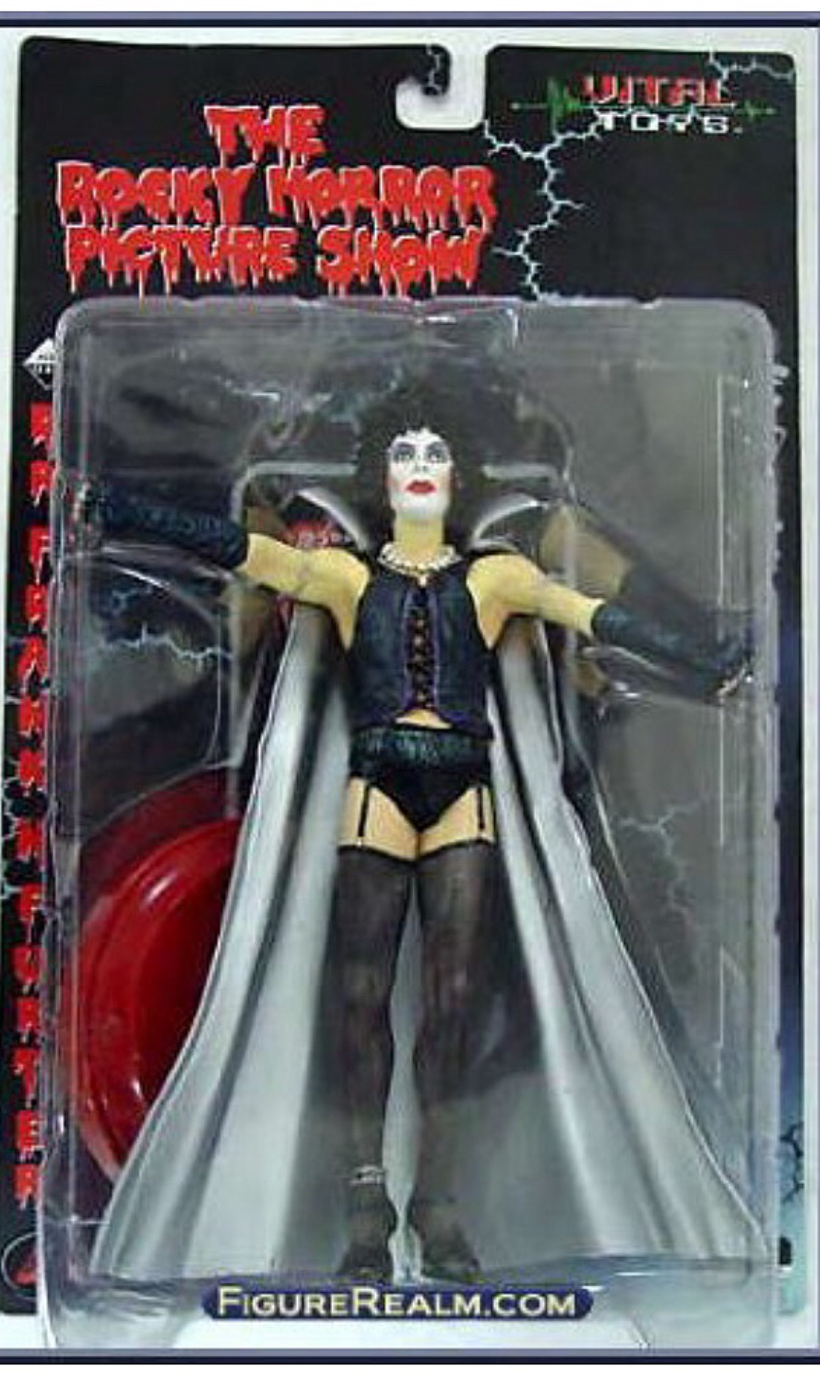 "THE ROCKY HORROR PICTURE SHOW collectable, Dr. Frank N. Furter figure by Vital Toys ""Do your worst, inferior one!"" ~ Dr. Frank N. Furter / 1975, THE ROCKY HORROR PICTURE SHOW"