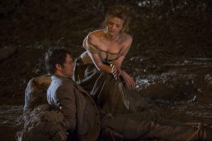 Photos (Clockwise): James Marsden, Talulah Riley; (Credit: John P. Johnson/HBO).
