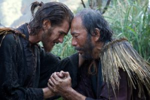 L-R: Andrew Garfield plays Father Rodrigues and Shinya Tsukamoto plays Mokichi in the film SILENCE by Paramount Pictures, SharpSword Films, and AI Films