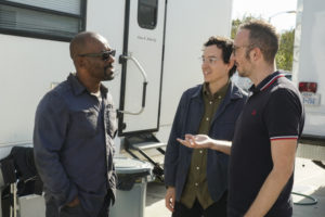 Fear The Walking Dead Set Lennie James