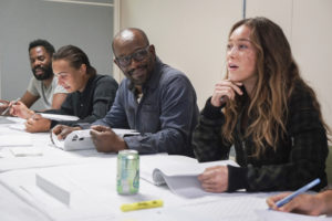 Lennie James Fear The Walking Dead Set